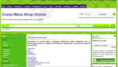 Costa meno shop on line