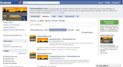 Pagina Facebook Chiama Subito