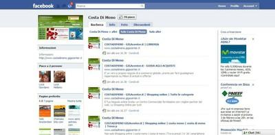 Pagina Facebook Costa di Meno Centro Commerciale Online - small