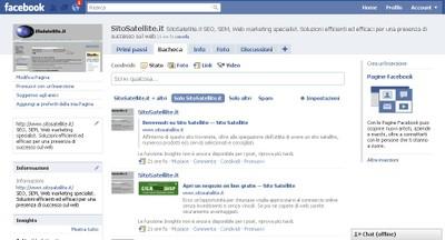 Pagina Facebook Sito Satellite - small