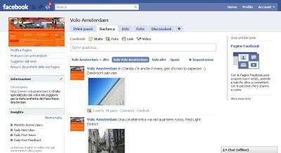 Pagina Facebook Volo Amsterdam